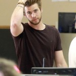 Liam Hemsworth stylish, hair with brown hair color pictures