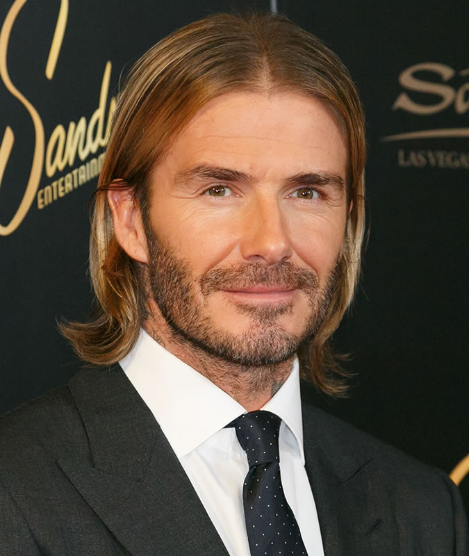 Middle Parted Long Hair David Beckham