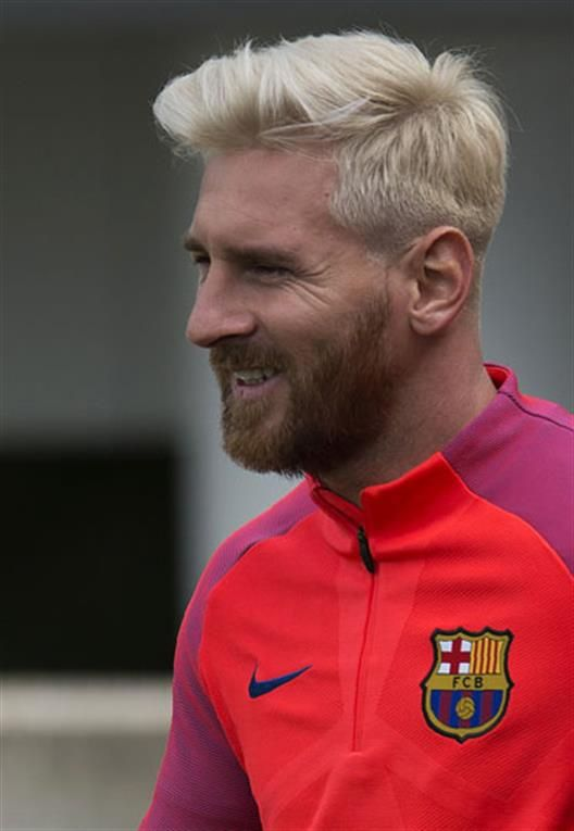 Lionel Messi Blonde Haircut