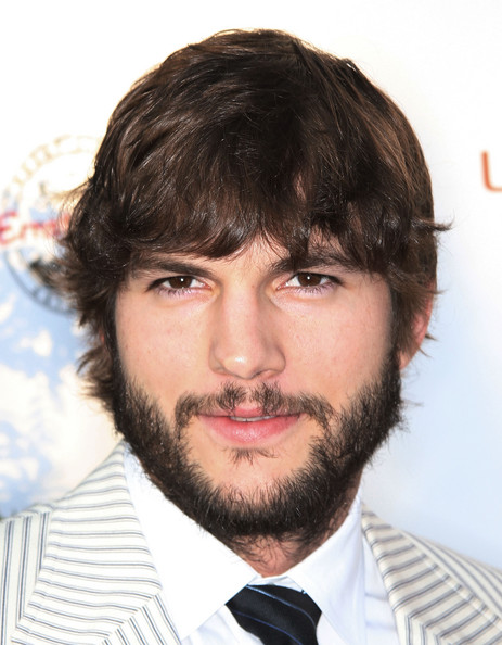 Ashton Kutcher long hairstyle with messy look