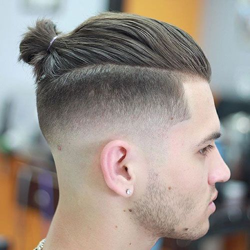 Men's Ponytail with Fade
