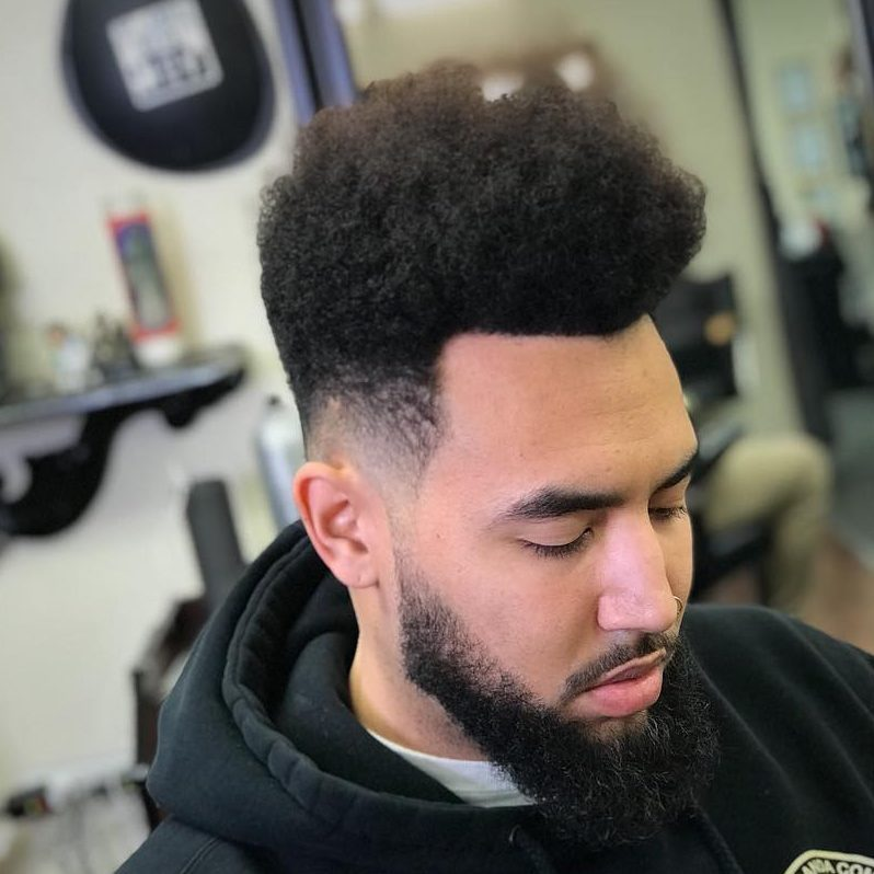 Haircuts for Black Guys with Big Foreheads