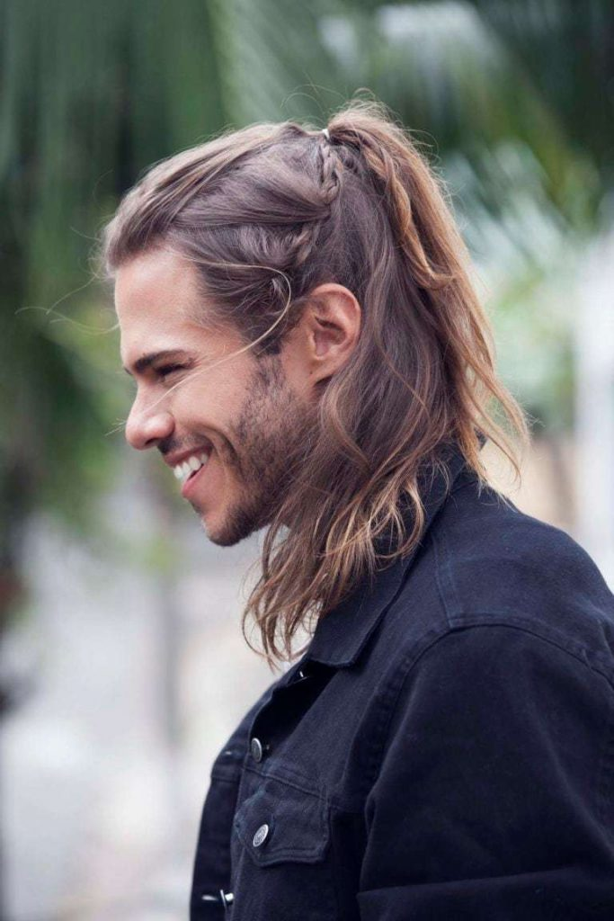 Male Ponytail with Bangs
